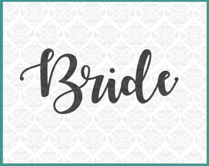 CLN0220 Bride Bridal Party Shirt Married Wedding Bachelorette SVG DXF Ai Eps PNG Vector Instant Download Commercial Use Cricut Silhouette