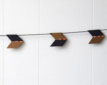 Arrow Garland / Black and Gold Bunting