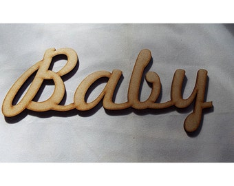 MDF Baby cutout for further embelishment or to add to your project Choose size