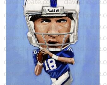 Peyton Manning, Indianapolis Colts Art Photo Print.