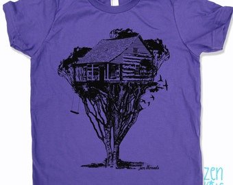 KIDS TREEHOUSE Premium vintage soft Tee T-Shirt Fine Jersey T-Shirt (+Colors) - FREE Shipping