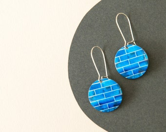 Bright Blue Earrings - Blue dangle earrings - Ocean earrings