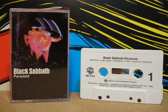 Paranoid by Black Sabbath Vintage Cassette Tape