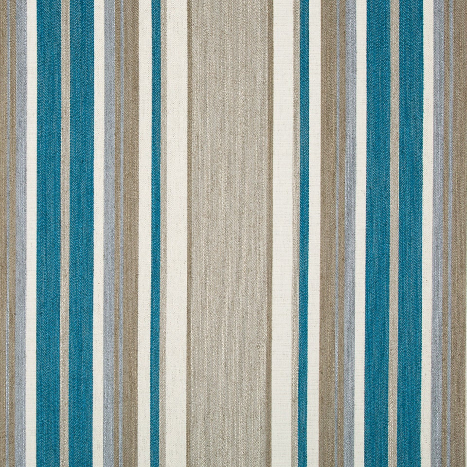 Turquoise and Grey Upholstery Fabric by the Yard