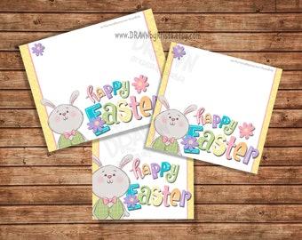 "Happy Easter Printable Bag Topper Set, (3""/4""/5"" wide) Includes PYO Version-"
