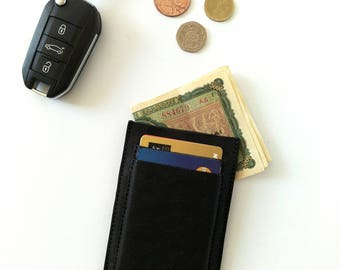 Mens Leather Card Holder. Mens Leather Card Case. Mens Leather Card Wallet. Mens Leather Wallet. Black Card Case. Black Card Holder