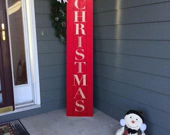 Merry Christmas Porch Sign, Holiday Sign, Rustic Merry Christmas Sign