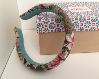 Damask fabric headband