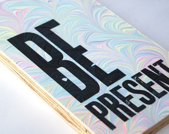 Be Present Marbled Wall Hanging