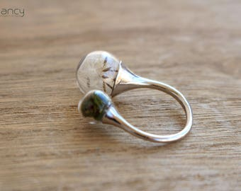 Dandelion ring , real dandelion jewelry , make a wish jewelry , unique rings for her , dandelion seed jewelry , Armenian rings