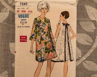 Super Sixties Dress Pattern from Vogue #7243