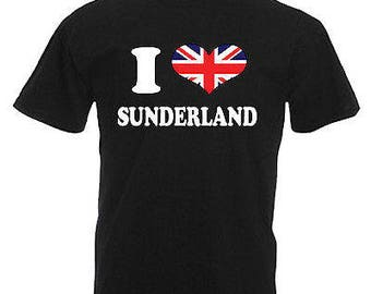 I love heart sunderland adults mens t shirt 12 colours size s - 3xl