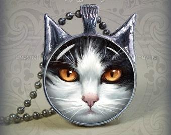 TUX11 Tuxedo Cat pendant