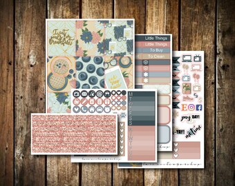 Breakfast // MINI KIT // Weekly Planner Sticker Kit (120+ Stickers)