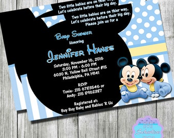 Mickey mouse baby shower invitations etsy baby mickey mouse baby shower invitation filmwisefo
