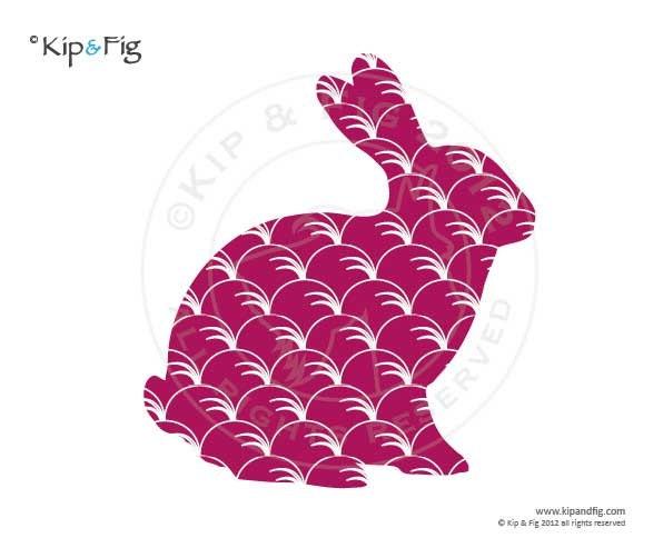 Bunny rabbit sitting applique template pdf applique pattern zoom maxwellsz