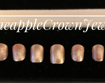 Rose gold ombré nails