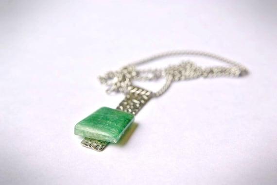 Natural Aventurine Jewelry, Gemstone Necklace, Pendant Cabochon, Heart Chakra, Aventurine Gift for Her, birthstone