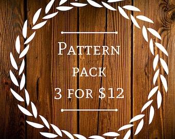 Knitting Pattern Pack/ Knitting Patterns/ Knit Hat Pattern/ Knit Cowl Pattern/ Beginner Knit Patterns/ Beginner Knitting