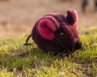 Purple plushie mouse Cuddly toy Stuffed animal Plushie toy Cute soft toy Plush mouse Recycled toy Kids toy