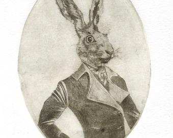 """Engraving """"Mr. Rabbit"""""""