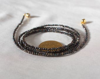 "Spinel necklace ""long Night"""