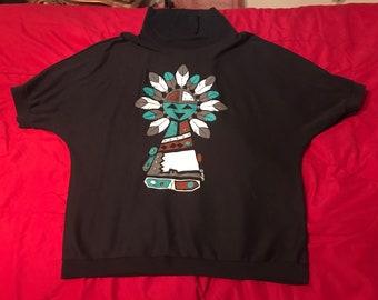 Vintage Native American short sleeve turtleneck