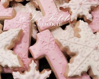 Winter ONEderland Decorated Sugar Cookies (1 Dozen)