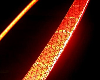 """NeW! - RED 'NiteBrite' REFLECTIVE Hoop! Polypro OR 1/2"""" Advanced.  Free Grip Option."""