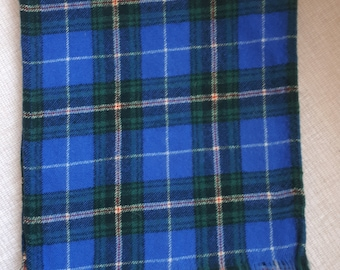 Nova Scotia Plaid Tartan Scarf Wool Blue Green Maritimes Scottish Tartan Winter Accessory
