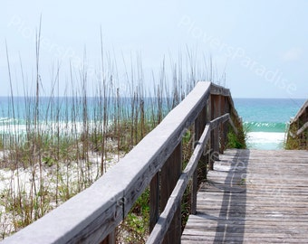 Florida Beach Photograph // Beach Walkover Picture // Pensacola Beach