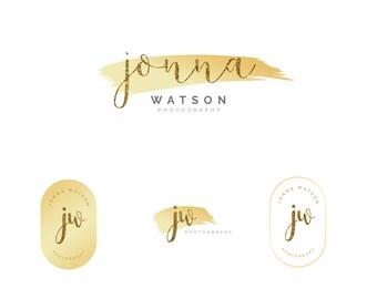 Premade logo, Photography Logo, Fashion Boutique Logo, Wedding Planner Logo, Photo Watermark, Simple Logo, Feminine Logo, Gold Glitter Logo,