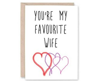 Funny Valentine's Day Card -Wife Valentine, happy Valentine's, married forever, gift for her, wife card, unique valentine, funny valentine's
