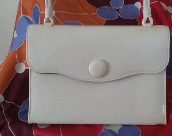 Vintage Theodor of California White Patent Leather Handbag