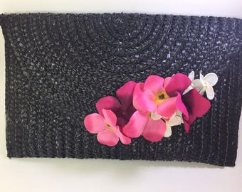 Bag of straw and cloth black