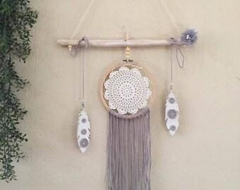 Drift wood embroidery hoop Dreamcatcher