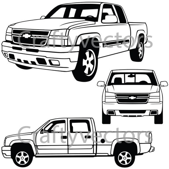 Chevrolet Silverado 2006 Vector File