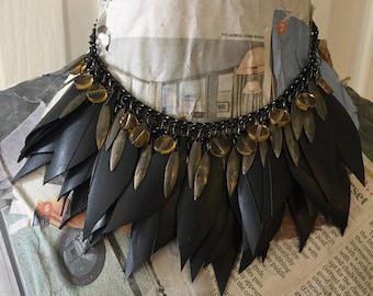 Handmade rubber necklace