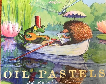 eeBoo Oil Pastels for Kids, Boat Ride Oil, Set of 32