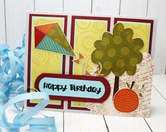 HAPPY BIRTHDAY, Birthday Card and Handmade Envelope