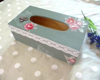 Romantic shabby tissue box
