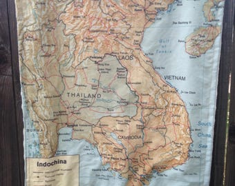 Thailand blanket etsy indochina map blanket vietnam laos thailand cambodia map baby minky security blankie gumiabroncs Images