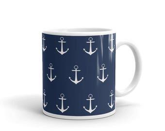 Hey Sailor! Anchor Pattern Mug
