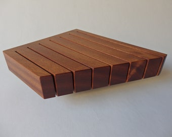 Knife Block, In-Drawer Knife Block, Large Size in Mahogany