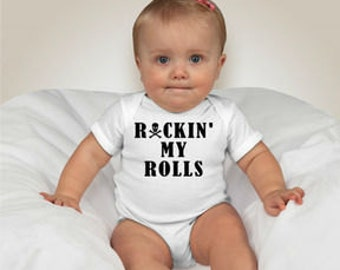 Rockin' My Rolls INFANT Short-Sleeved ONESIE.  Get this adorable onesie today!