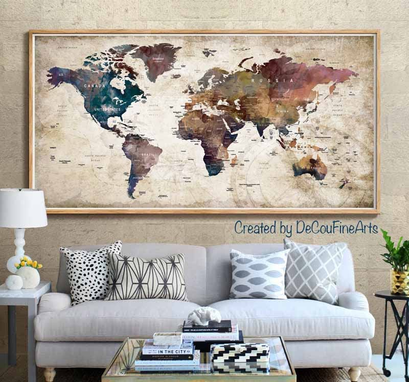 Large world map poster printworld map wall artworld map art print large world map poster printworld map wall artworld map art printworld map printworld map vintageworld map push pinworld map decalmap gumiabroncs Images