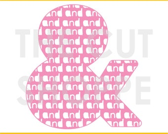 The And So On cut file can be used as a fun background element for your scrapbooking and papercrafting projects.