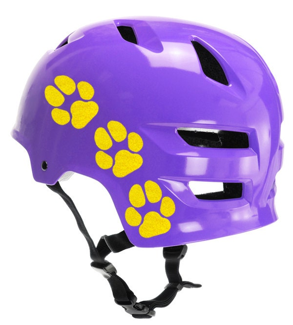 Dog Print Reflective Decals Dog Tracks Helmet Stickers Paw - Custom motorcycle helmet stickers and decalsbicycle helmet decals new ideas for you in bikes and cycle