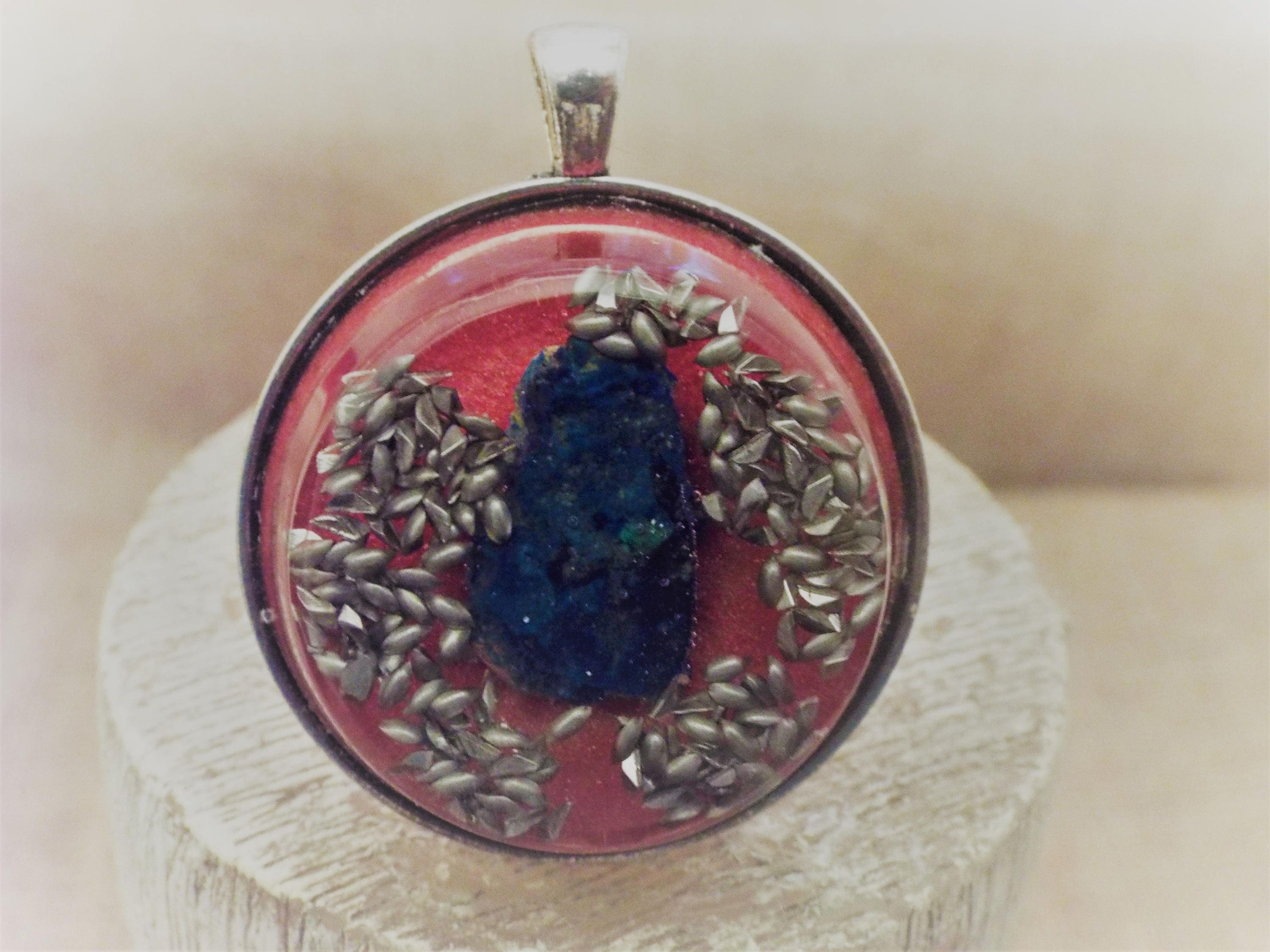 Saa orgone energy pendant with azurite mozeypictures Images
