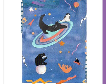 Spaced Out Cat Note Cards